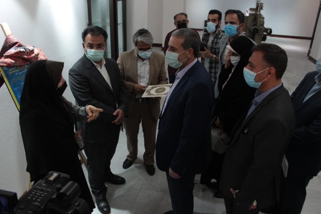 افتتاح نمایشگاه آثار برگزیده جشنواره هنرهای تجسمی رضوی ویژه هفته کرامت